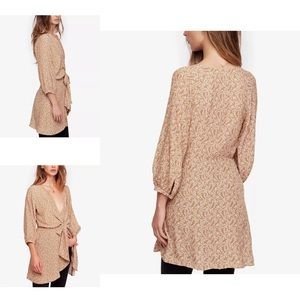 Free People Clara Tie- Front Tunic